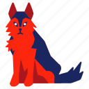 canine, chinese zodiac, dog, hound, jackal, wolf, year icon