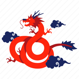 capricorn, chinese zodiac, dragon, flying dragon, goat, year, zodiac icon