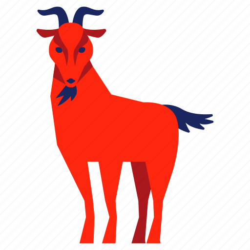 animal, chinese zodiac, goat, nanny, pet, ram, year icon