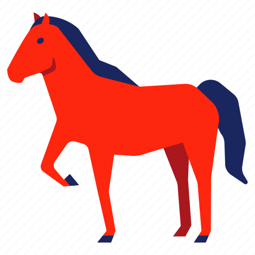 animal, bronco, chinese zodiac, equine, horse, mustang, year icon