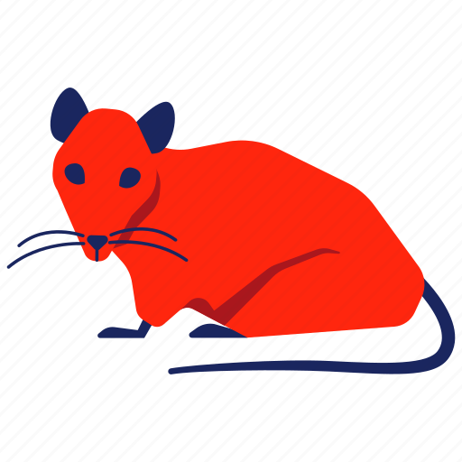 chinese zodiac, mouse, mousy, pest, rat, rodent, year icon