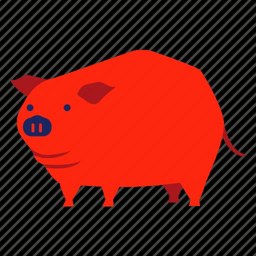 animal, boar, chinese zodiac, hog, pig, piggy, year icon