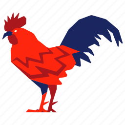 chicken, chinese zodiac, cock, hen, rooster, year icon