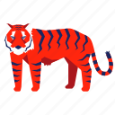 animal, bengal tiger, chinese zodiac, tiger, wild, year icon