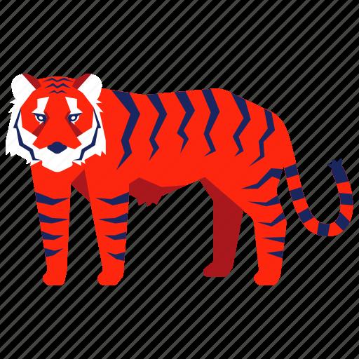 animal, bengal tiger, chinese zodiac, tiger, wild, year icon