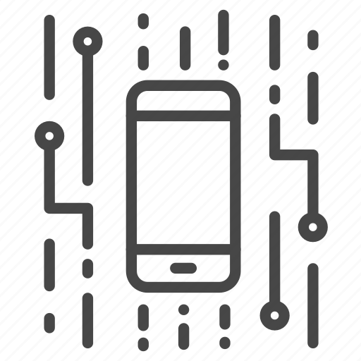 chipset, digital, electronic, mobile, smartphone icon