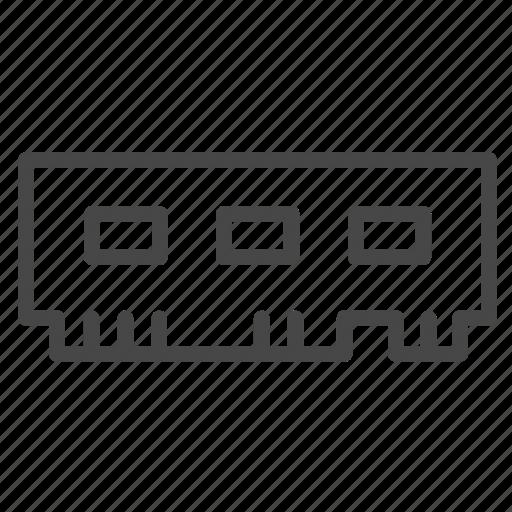 computer, digital, electronic, microchip, ram icon
