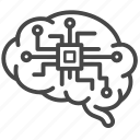 brain, digital, electronic, processor icon