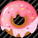 donut, donute, doughnut, doughnuts, food doughnut icon