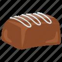 buttercream, chocolate bar, creamy dessert, creamy swirls, dark chocolate icon