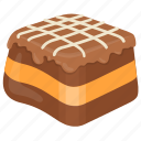 butterscotch chocolate, chocolate cake, chocolate fudge, dark chocolate, snack icon