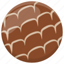 chocolate biscuit, chocolate chip cookie, crumb, dessert, snack icon