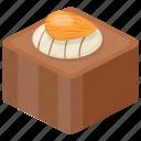 chocolate bar with almond, chocolate brownie, chocolate fudge, chocolaty dessert, snack