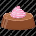 birthday cake, chocolate mousse cake, creamy dessert, dark chocolate, sweet snack icon