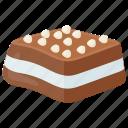 cake, cashew nuts, chocolate nanaimo bar, creamy dessert, dark chocolate icon
