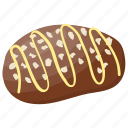 chocolate biscuit, chocolate cookie, dessert, fluff, snack icon