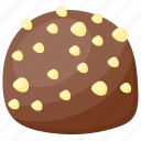 chocolate biscuit, chocolate cookie, chocolate peanut, kids snack, peanut cake icon