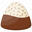 candy, chocolate coconut candy, chocolate truffle, kids cuisine, snack icon