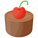chocolate cake, chocolate cupcake, dark chocolate, snack, whole chocolate cake icon