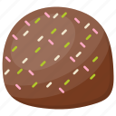 birthday cake, chocolate bun, chocolate cake, chocolate dessert, dark chocolate icon