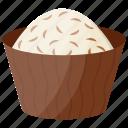 chocolate cupcake, creamy dessert, gelato, ice cream, vanilla scoop icon