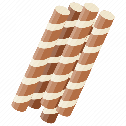 Biscuit sticks, candy rolls, chocolate candy, chocolate sticks, wafers icon - Download on Iconfinder
