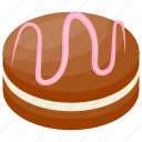 chocolate cake, chocolate fudge, chocolate vanilla cake, dark chocolate, snack icon