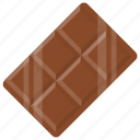 chocolate, chocolate bar, creamy delight, dark chocolate, snack icon