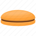 chocolate biscuit, cream inside biscuit, crumb, crunch snack icon