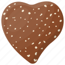 chocolate candy, dessert, heart shape, romantic gift, snack icon