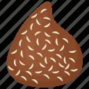 chocolate coconut truffle, coconut spread, creamy dessert, dark chocolate, snack icon