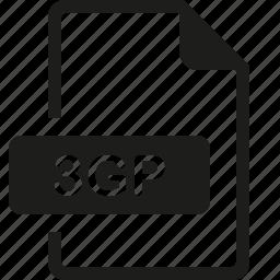 3gp, file, format icon