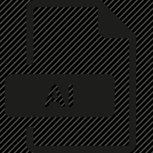 ai, file, format icon