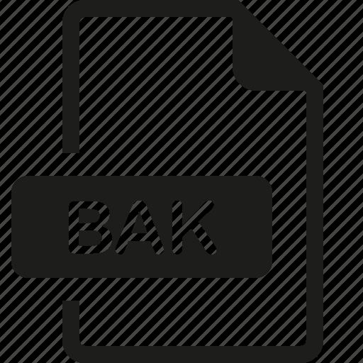 bak, file, format icon