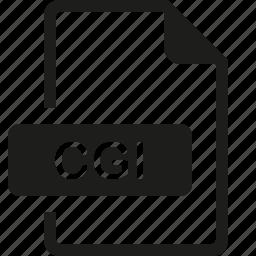 cgi, file, format icon