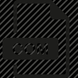 com, file, format icon