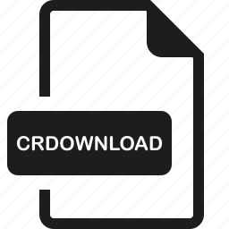 crdownload, file, format icon