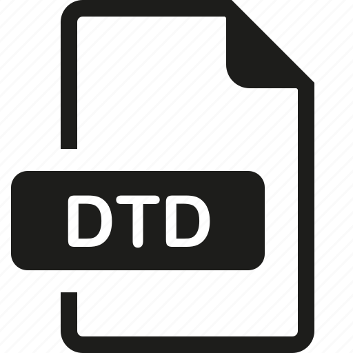 dtd, file, format icon