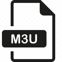 file, format, m3u icon