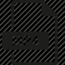 file, format, mp4 icon