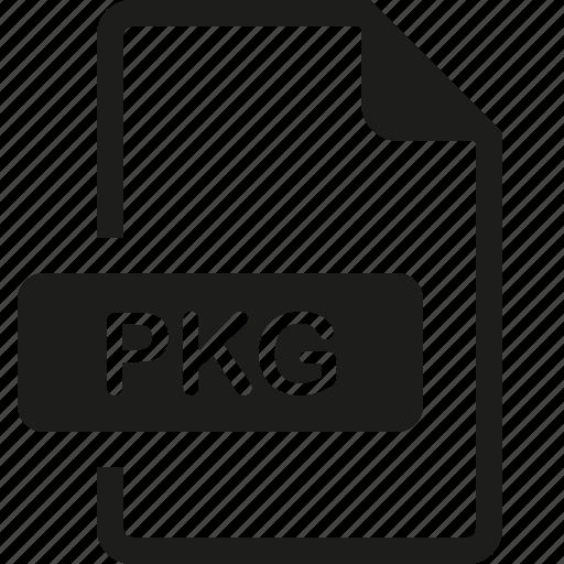 file, format, pkg icon