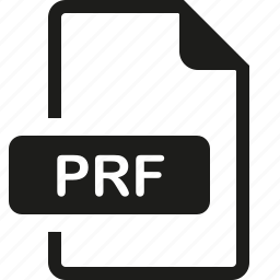 file, format, prf icon