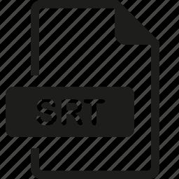 file, format, srt icon