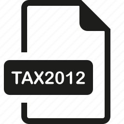 file, format, tax2012 icon