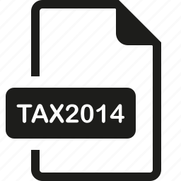 file, format, tax2014 icon