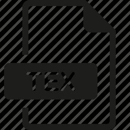 file, format, tex icon