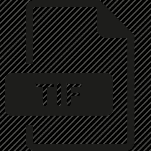 file, format, tif icon
