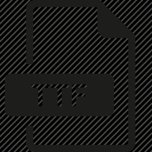 file, format, ttf icon