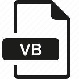 file, format, vb icon