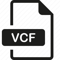 file, format, vcf icon